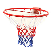 Wall Mounted Hanging Basketball Goal Hoop Rim Net Metal Sporting Goods Netting 45cm/32cm