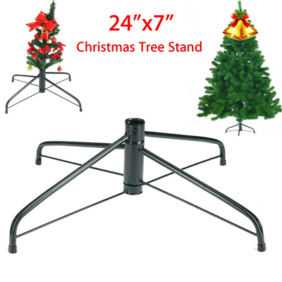 2017 60cm foldable metal christmas tree stand holder base diy decorative tree holiday festival art h
