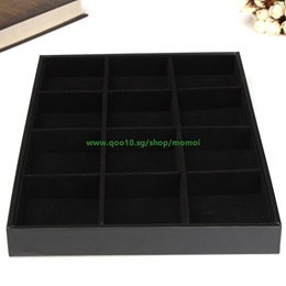 Home universal Simple Elegant 12 Grids Jewellery Tray Necklace Bracelet Watch Shop Store Display Sto