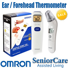 FREE SHIPPING- OMRON 30% OFF TH-839S MC-720 Ear Forehead Thermometer Portable Medical [1 Yr Warranty
