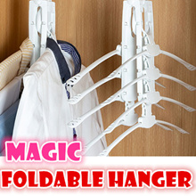 Magic Multifunctional foldable hanger clothes drying rack storage Wardrobe storage save space
