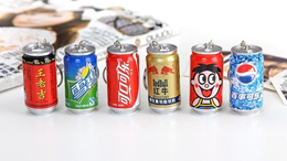 Creative Stationery Vitamin Pill Capsule Drink Can Keychain Retractable Capsule Ball Point Pen Birthday Goodies bag gifts / Children Days Gift
