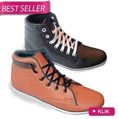 [SALE]?SNEAKER MEN SHOES?HIGH TOP?HIGH QUALITY? 6 COLOURS AVAILABLE? Deals for only Rp105.000 instead of Rp105.000