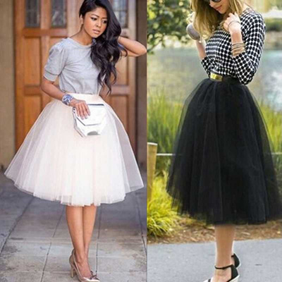 edf38fa527 Qoo10 - store 2019 Newest Hot Chiffon plus size Female Tutu Tulle ...