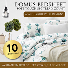 DOMUS Soft Touch 880 Tread Count Fitted Bedsheets and Quilt Cover Sets / 18 DESIGNS