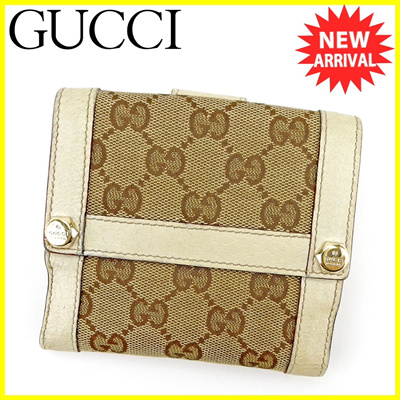7063ed2c198 Gucci GUCCI W Hook Wallet Folded Ladies Men  s Available GG Canvas Beige ×  Brown