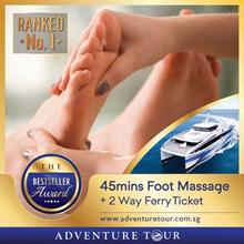 Batam Ferry Ticket - 2 Way SG/BATAM All Tax Included + 45 Mins Foot Massage