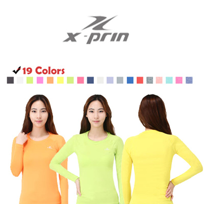 7ffe369363 XPRIN A100 Series For Women Lady (Long Sleeve) Base Layer Compression  Tights Rash guard