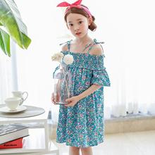 Kids Baby Girls Dresses Summer Fashion Dress 3-15 Years Old New Shivering Flower Braces Skirt