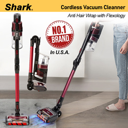*No.1 Brand in USA* Shark Vacuum Cleaner Anti Hair Wrap Cordless with Flexology (IZ202)