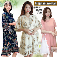 New Maternity Wear/Tops/Dress/Tee Shirts Vest/Shorts/Pants Pregnant Women Clothes Plus /dress