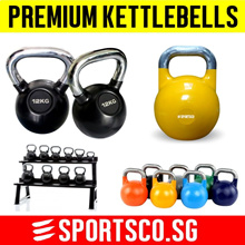⏰⚡ Premium Kettlebells ☘ 2KG to 20KG ☘ Rubber Coated ☘ Competition Kettlebells ☘ SG Seller ☘