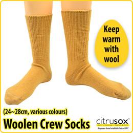 Crew Length Wool Woolen Socks