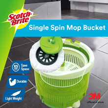 [Official E Store] 3M™ Scotch Brite™ Single Bucket Spin Mop