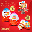 CNY Promo (BUY 1 GET 1 FREE = 24 PCS ) KINDER JOY - HEALTHY SNACKS AND FUN FOR CHILDREN T12 (12X20GRAM)FOR BOYS AND GIRLS EDITION