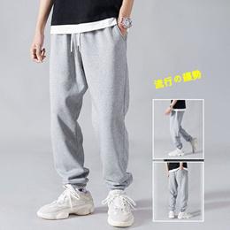 运动裤男女款2021四季宽松休闲裤韩版潮流束脚裤抽绳长裤子