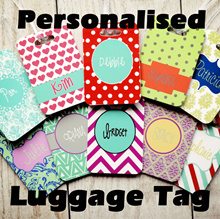 [Beaute Loft] Customised Luggage Tag / Personalised Luggage tag / Credit Card Size Luggage Tag / Bag