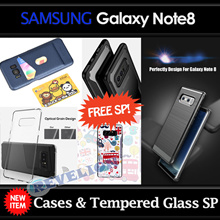 ★NEW★[Stocks in SG]FREE Screen Protector!!!★Samsung Galaxy Note8 Note 8 Case Cover Tempered Glass
