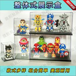 Custom Assembled acrylic display box transparent anime doll model hand-run clay toys display dustpro