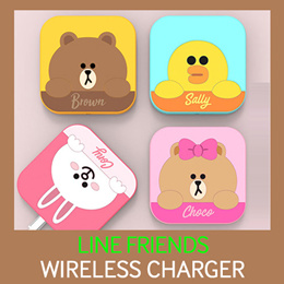 LINE FRIENDS Wireless Charger★Fast Charging/iPhoneXS/MAX/XR/87/6/Plus/GalaxyNote9/8/S9/S8/Plus