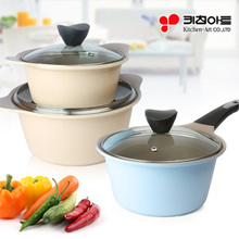 Kitchen Ar Juliet Ceramic 3 Pot Set   Wok / pots / Made in Korea Cooking Pot