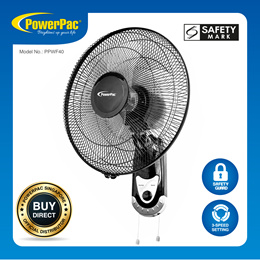 PowerPac 16 Inch Wall Fan with Oscillation (PPWF40)