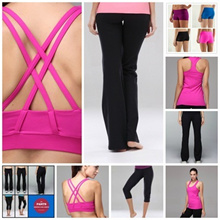 {SMARTBIZ}Lululemon inspired cropped gym pants shorts sports bras racerback tops Look good while working out Yoga/GymWear