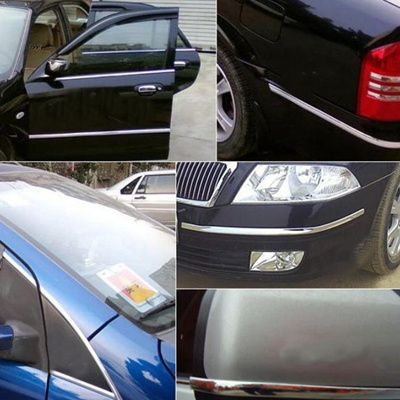 New Exterior Car 2 5m 30mm Chrome Adhesive Strip Trim Molding Styling  Decoration