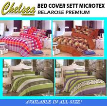 BED COVER SETT MICROTEX BELAROSE PREMIUM ~ (bed cover + sprei)