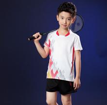 2018 Badminton jersey shirt and short pants set for Kids ChildrenBoys (sku5697)