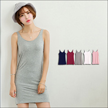 SG-STORE! MISS JUJU Korean Super comfy work Basic Office Modal Bandage Sleeveless Short Dress