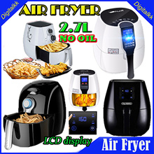 【Air Fryer】 third-generation Korean electric air fryer LCD intelligent home high-capacity oil-free fries / *NO OIL*LCD display / Capacity 2.7L/ Healthier Choice Air Fryer/1 Years Warranty