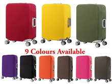 Thicker Plain Colour Stretch Luggage Dust Cover / High Quality Luggage Cover Protector