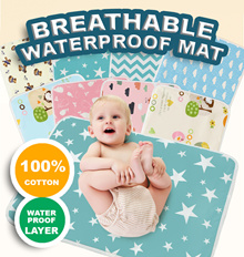 baby changing mat pad water proof mattress protector/many colour size