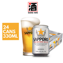 [Use Qoo10 Cart Coupon + FREE SHIPPING] Sapporo Premium Can Beer 330ml x 24cans [Expiry Dec 21]