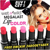 (FREE ONGKIR JABODETABEK) Buy 1 Get 2  WET N WILD   Megalast Lip Color