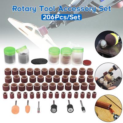 Qoo10 - 206Pcs Dremel Rotary Tool Accessory Kit Set Grinding