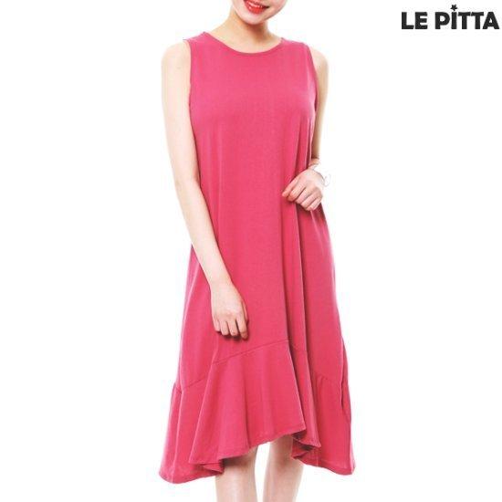 ルピタルピタラッフルロング塔ワンピースC172TOP703 面ワンピース/ 韓国ファッション