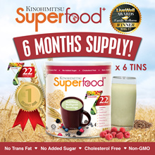 Kinohimitsu Superfood+ (500g x 6 tins)  6MTH SUPPLY [22 Multigrains Cereal Drink OVER 60000 SOLD]