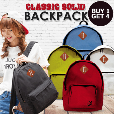 ( BUY1 GET 4 ) CLASSIC SOLID BACKPACK Deals for only Rp125.000 instead of Rp125.000