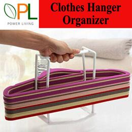 Premium Clothes Hangers Organizer / Hangers Storage / Hangers Caddy Space Saver Velvet Hanger