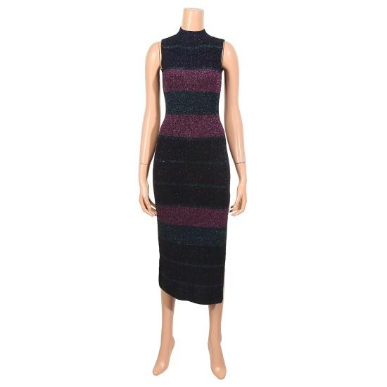 提示、ニューヨーク、パール・三色ニット・ワンピースJ685NSKA41401 面ワンピース/ 韓国ファッション