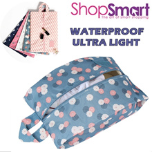 Waterproof Ultralight ShoeBag|Portable Zipper ShoePouch With handle|2 pairs|Bra Toiletry Travel Bag