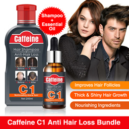 Caffeine C1 Anti Hair Loss Shampoo 200ml for Promote Natural Hair Growth and Thickness