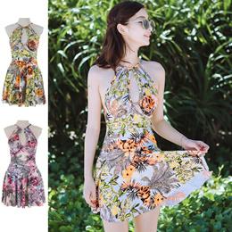 d1ce582550 Tropical Pattern Dress Swimsuit / Swimwear / Women's / One Piece / Floral  Pattern / Botanical