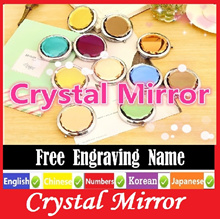 ( Meaningful Gift ) Crystal Mirror + Free Engraving Name Xmas. Christmas Christmax best gift.