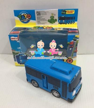 Mainan Anak Mobil Tayo Sliding Pullback Kecil - TAYO Biru