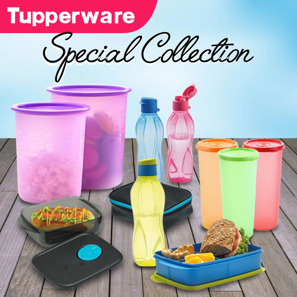 TUPPERWARE Medium Mosaic canister/Indonesia Tumbler/Eco bottle 310ml/Giant Tumbler/Lolly Tup/Petite Deals for only Rp95.000 instead of Rp95.000