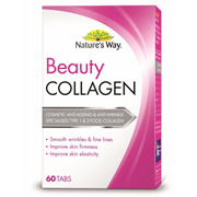 Natures Way Beauty Collagen 60 Tablets | Sep 2019 | Anti-aging | Elasticity | Firming | Wrinkles