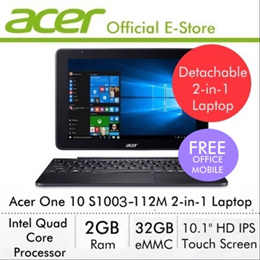 Acer One 10 S1003-112M 2-in-1 Laptop - Online Exclusive